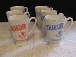 Porcelán pálinkás,likőrös pohár kupica 6 db