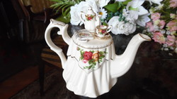 Royal Albert Old Country Roses mintázatú különleges teáskanna