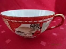 Japán porcelán, kézzel festett, tojáshéj vékony teáscsésze.