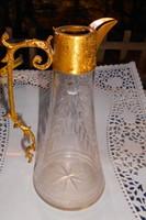 Antik csiszolt üveg karaffa