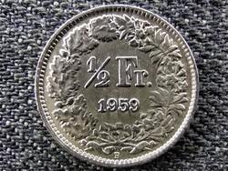 Svájc .835 ezüst 1/2 Frank 1959 B (id46772)