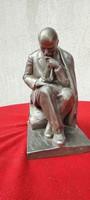 """Valódi Orosz, Lenin szobor,orosz idézet és Szignàlt is ! """"Lenin írja memoàrjàt """"szobor,téma.3,5 kg"""