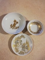 Rosenthal limitált tányérok csodálatos aranyozással, certifikációval