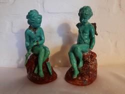 Letu & Mauger szobor pár