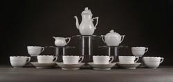 1D636 Hófehér mosogatógépben is mosható Herendi porcelán kávéskészlet