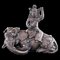 Elefánton ülő istennő