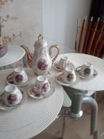 Barokk életképes kávéskészlet