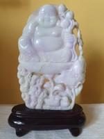 Hatalmas Jáde Szerencsehozó Budha 935 Gramm