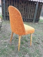 """Kis retro kényelmes szék érdekes háttámlával vékony ,,póklábakon"""""""