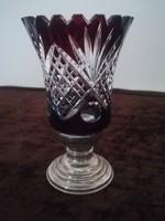 Ezüst talpas art deco kristály váza