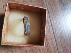 Pandora, köves, 2 karikás, 54-es gyűrű