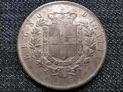 Olasz 5 Líra 1873 Vittorio Emanuelle érme másolat (id19008)
