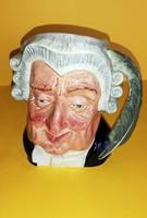 Gyűjtői Royal Dulton The Lawyer Toby kancsó bögre