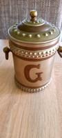 Érdekes réz-pléh fűszertartó doboz