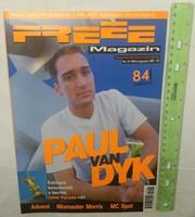Freee magazin 1999/8 #42 Paul Van Dyk Advent Mixmaster Morris Mc Spot Slam Jr