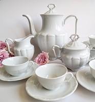 Régi fehér porcelán Walbrzych kávés készlet