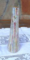 Retro Mid century repesztett mázas kerámia váza