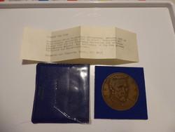 Kiss Kovács Gyula 1922-1984  - Van Gogh bronz plakett APV műbőr tokban