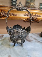 Csodaszép Barokk Ezüst kosárka 170gramm