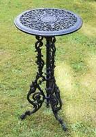 Tavaszi kertszépítő ajánlat - Öntöttvas asztalok (fekete)