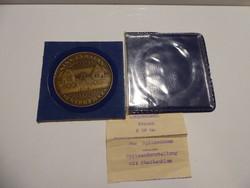 Csúcs Viktória - Kiskunhalas Csipkeház, bronz emlékérem, APV műbőr tokban