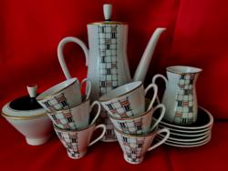 Freiberger 6 személyes NDK kávéskészlet, gyönyörű!