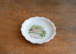 Aquincum retro porcelán szuvenír - Jósvafő nyaralási emlék tányérka