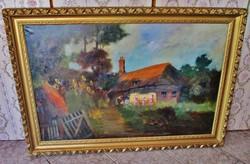 Csodálatos eredeti  Boemm Ritta festmény 137x95cm