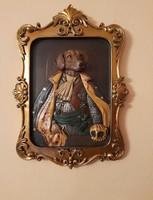 Érdekes falidísz - kutya jelmezben