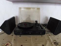 Ziphona Combo 523, retro keletnémet lemezjátszó + hangszóró (NDK, 1980-as évek)