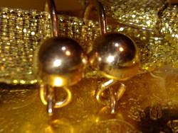 14 K arany antik orosz fülbevaló gyönyörű hibátlan antik aranyékszer russian gold antique earrings