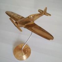 Réz retro modell makett repülő asztali dísz emléktárgy relikvia