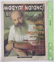 Magyar Narancs újság / magazin 1996/35 Iványi Gábor Bíró Gáspár Pepsi Sziget alapszerződés