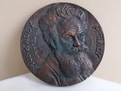 Munkácsy Mihály bronz plakett