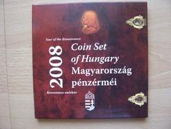 Dísztokos Forint forgalmi sor 2008 Proof  reneszánsz év