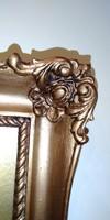 Antik arany -bronz Blondel kép keret ,különleges ,több féle technikával készült képpel