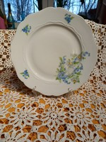 Extrém ritka  kék nefelejcs virágos és Kamilla virágos tányér Drasche
