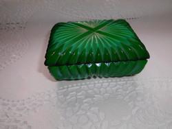 Malahit Bohémia üveg doboz