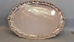 Antik hólyagos ezüst tálca 871g