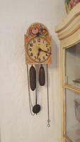 Antik régi Schwarzwaldi paraszt falióra fali óra