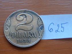 JUGOSZLÁV KIRÁLYSÁG 2 DINÁR 1938 1934~1945 II. Péter király #625