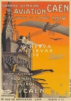 Vintage francia szecessziós reklám plakát reprint nyomat repülő gótikus torony építészet vízköpő