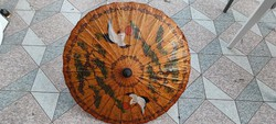 Kínai,Keleti napernyő, ernyő kézimunka,kézi festett, természetes anyagok fa stb.Dekoráció, Kirakat