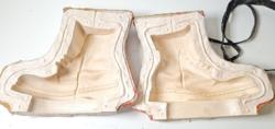 Régi nagyméretű gyertyaöntőforma / antik bakancsot mintázó darab