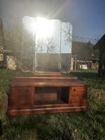 Art deco tükrös szekrény  / komód és egy kihajtható tükör