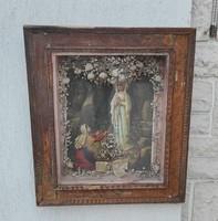 Hàzi àldàs, vitrines, különleges antik darab! 100 -120 éves ! Küldés, Madonna, kàpolna, egyházi