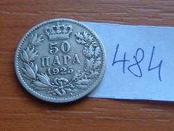 SZERB HORVÁT SZLOVÉN KIRÁLYSÁG 50 PARA 1925 (b) nincs (Brussels Belgium) #484
