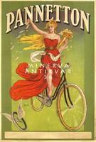 Vintage kerékpár bicikli reklám plakát reprint nyomat fiatal szőke lány görög amazon szárnyas kerék