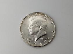 1967 ezüst Kennedy fél dollár