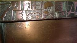 Retro military-flying motifs v.Copper tray